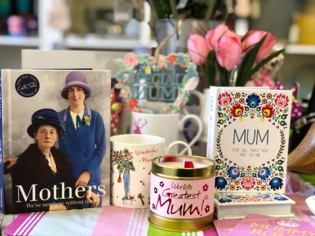 Display of Mother's Day 2019 gifts in The Old School Shop, Rothiemurchus