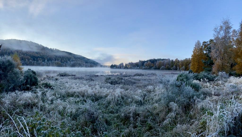 Loch Pityoulish, frosty, morning