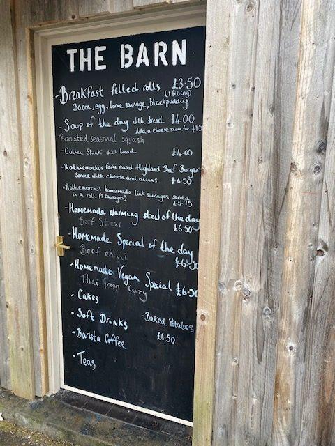The Barn at Rothiemurchus, menu